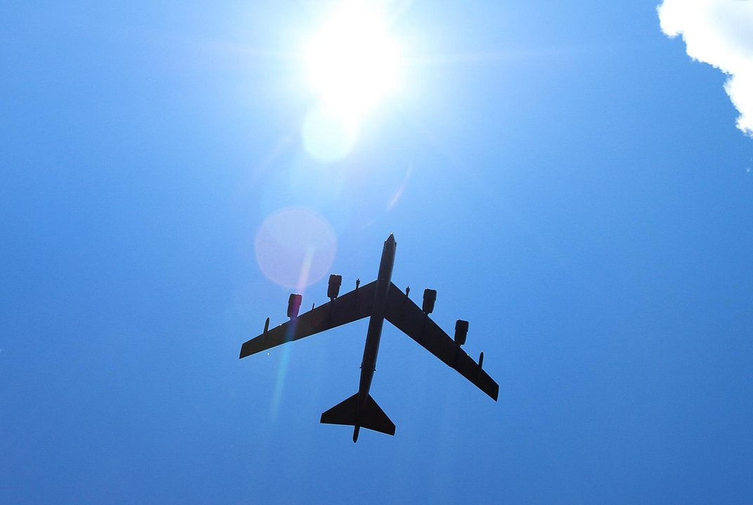 B 52 stratofortress fly by
